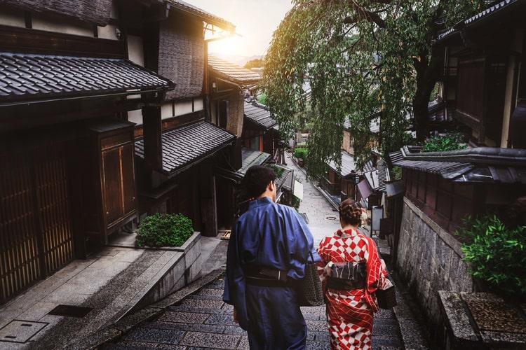 京都のレンタル浴衣・着物観光コース例